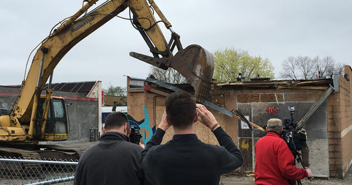 Saint Paul building comes down to make way for Little Mekong Plaza